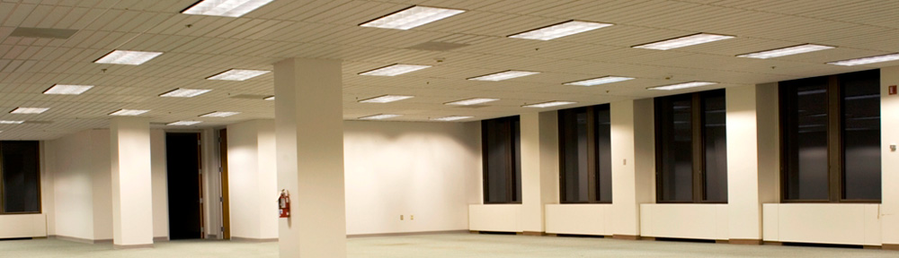 Commercial Building Retrofit With 1 Source LED #TL4-SMD-41K-UNV-CL LED Tube Lights